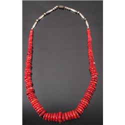 Navajo Coral Discoidal Necklace