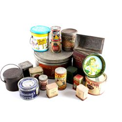 Collection Of Early Baking Product Tins