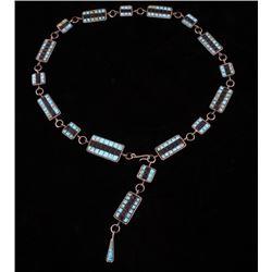 Navajo Turquoise & Onyx Concho Belt
