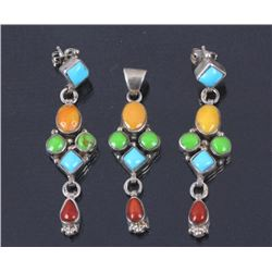 Navajo Earring and Pendant Set