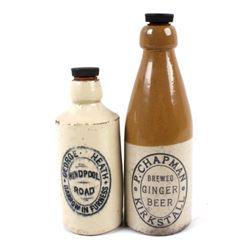Vintage P. Chapman & George Heath Pottery Bottles