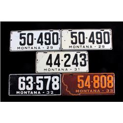 Montana License Plate Collection