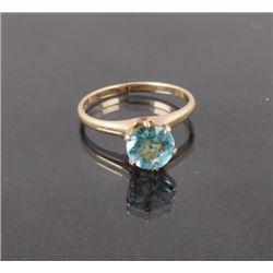 Blue Topaz 10K Gold Ring
