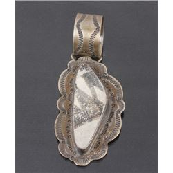 Anasazi Sterling Silver & Stone Pendent