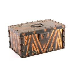 Antique Pressed Steel Strong Box