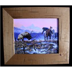 """Giclee Canvas """"Down To The Wire"""" C.K. Price"""