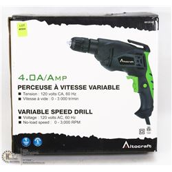 VARIABLE SPEED 4 AMP CORDED DRILL