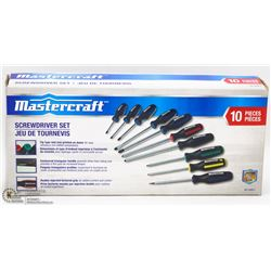 MASTERCRAFT 10PC SCREWDRIVER SET