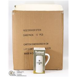 CASE OF 12-16OZ BEER STEINS