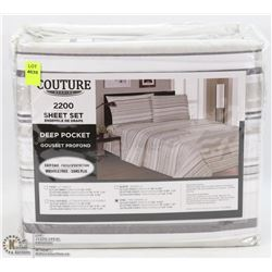 NEW COUTURE BEDDING DEEP POCKET SHEET SET