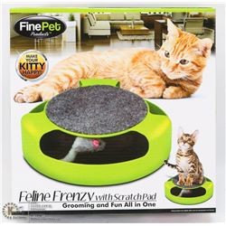 NEW FELINE FRENZY CAT TOY WITH BUILT IN SCRATCH