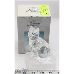CRISTAL D' ARQUES MADE IN FRANCE CRYSTAL CAT