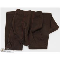 NEW COFFEE BROWN COLOR FLEECE LINED  LEGGINGS