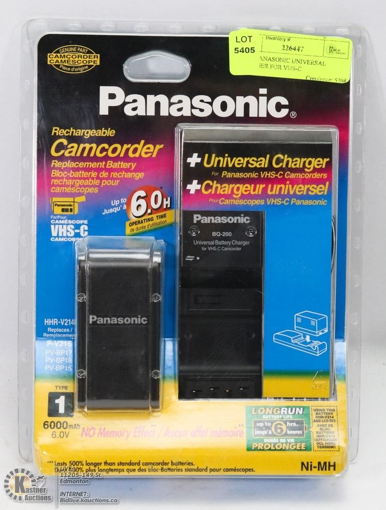 New Panasonic Universal Charger For Vhs C