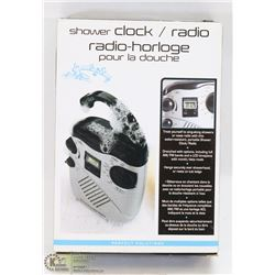 SHOWER CLOCK/ RADIO