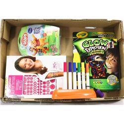 CHILDRENS PLAY/EDUCATIONAL LOT - CRAYOLA, LEAP
