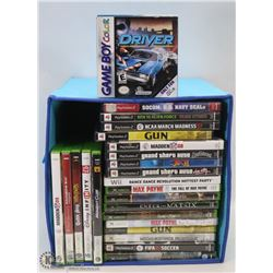 TOTE OF GAMES INCL XBOX 360, XBOX, PS2 & MORE