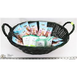 WICKER BASKET W/ CLEANSING FACIAL MASKS AND