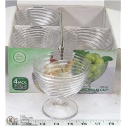 CASE OF NEW 4PCS ICE CREAM CUP 320ml