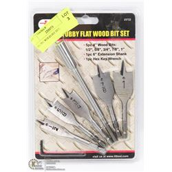 NEW 7PC WOOD BIT SET.
