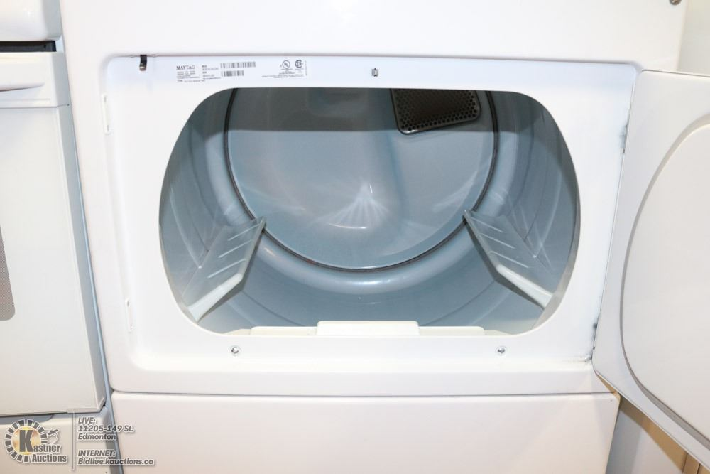 MAYTAG COMMERCIAL COIN OPERATED WASHER DRYER SET