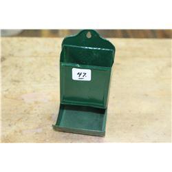 Dark Green Match Box Holder