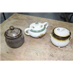 Sugar Bowls with Lids