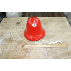 Cast Iron Red Fire House Bell