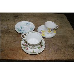 Royal Albert Christmas Pattern Cup & Saucer; Inspiration Pattern (Saucer) & Phoenix Bone China Cup &