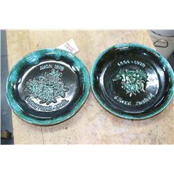 Blue Mountain Pottery Silver Jublilee Plate & an Avon 1979 Christmas Plate