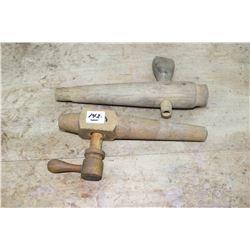 Wooden Barrel Spigots (2) & Yard Sticks (2)