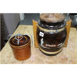 Jam Crock and a Cookie Jar