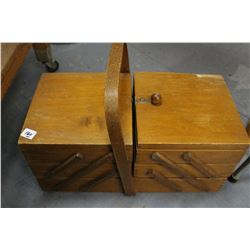 Vintage Sewing Box - Expandable