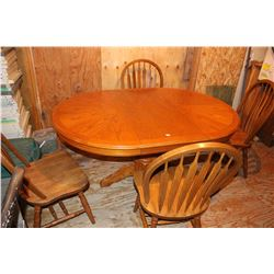 Dining Table (Made of Rubber Tree Wood) with 4 Chairs