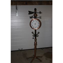 Weather Vane - Cast Iron & Copper - with Working Clocks - New Movements