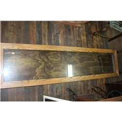 Hanging Oak Showcase - Used to Display Hockey Stick Collection