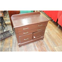 Vintage Cabinet with 2 Drawers & Bottom Doors