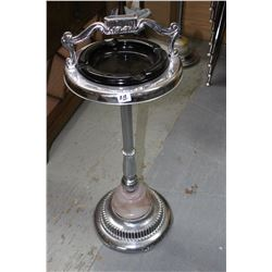 Silver Plate/Marble Ashtray Stand