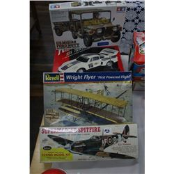 Wright Flyer Model; Jeep Model (USM151AZ); Remote Controlled Car & Spitfire Model Plane