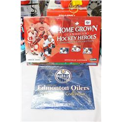 Edmonton Oiler Medallion Collection & Home Grown Canadian Hockey Heros Pin Collection