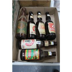 Flat of 6 Beer Bottles (Various Labels)