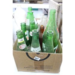 Box of 12 Various Pop Bottles