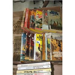 Flat of Zane Grey & Louis Lamour Books