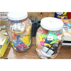 2 Gallon Jars of Old Miniature Toys