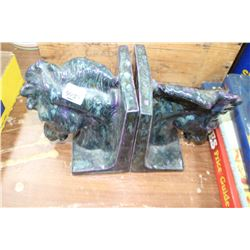 Pair of Horse Book Ends