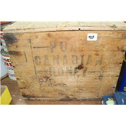 Pure Canada Honey Wooden Box