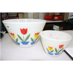2 Fire King Tulip Bowls