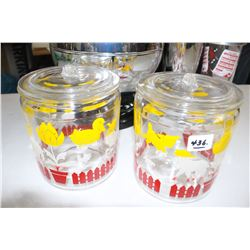 2 - Circa 1950's Candy Jars