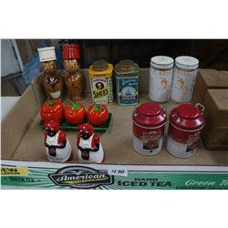 Flat of Salt & Pepper Shakers