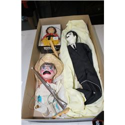 Box of 3 Vintage Puppets